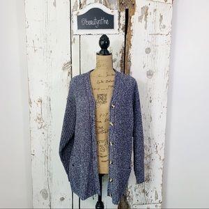 St. John's bay marled knit oversized cardigan